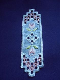 HARDANGER FINISHED CLOTH 13-1/4 by 8 INCHES INTRCATE NEEDLE WORK DESGIN • CAD…