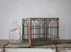 Nicole has an amazing designers eye for special, vintage stuff that evoke nostalgia and hope. Everyday I am amazed :). Metal Milk Crates, Vintage Metal, Vintage Stuff, Storage Bins, Storage Ideas, Wire Baskets, Good Old, Tea Pots, Old Things