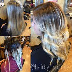 Stretched root balayage ombre colormelt process. Before and after. hair by Rachel Fife @ SF Salon