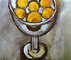 A Vase with Oranges, by Henri Matisse (French, 1869–1954).