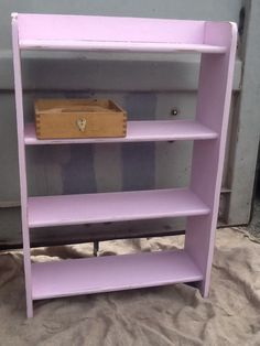Up cycled pink bookcase