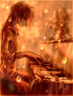 Music in the rain by Ann-Nick