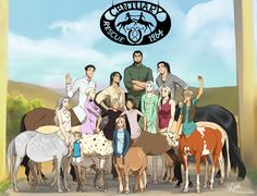 The centaur gang from the Centuary Farm!  –  Find them under the tag #centuary  b/g
