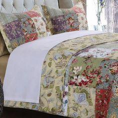 Country Cottage Patchwork Cotton Quilt Set