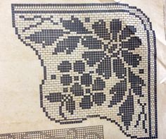 Filet Crochet Charts, Easy Crochet Patterns, Cross Stitch, Dish Towels, Towels, Craft, Templates, Doilies, Crocheting