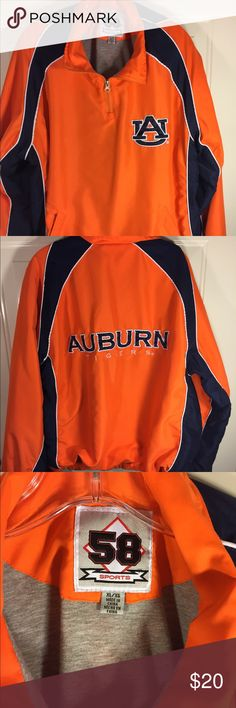 Auburn University Pull Over Sz. XL 58 Sports Brand, Auburn Univ. PullOver w Side Zipper. It's also lined and has pockets to keep you warm. Gently worn. 58 Sports Other