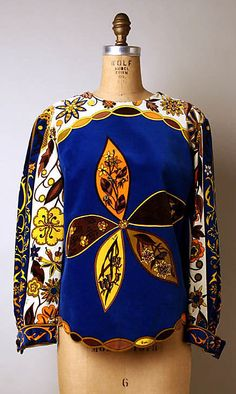 Blouse | Emilio Pucci (Italian, 1914-1992) | Italy, 1967 | Material: cotton | The Metropolitan Museum of Art, New York