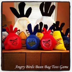 I made these Angry Birds bean bags for my son's birthday. It was a huge hit! I saw this awesome idea at alphamom!  #alphamom #angrybirds