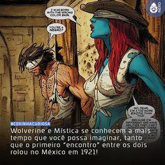 #CoxinhaCuriosa Oferecimento: Produtos Ivone! Procure a Rochelle mais próxima para comprar o seu (lol)!  #TimelineAcessivel #PraCegoVer  Imagem do Wolverine e da Mística com a curiosidade: Wolverine e Mística se conhecem a mais tempo que você possa imaginar tanto que o primeiro encontro entre os dois rolou no México em 1921!  TAGS: #coxinhanerd #nerd #geek #geekstuff #geekart #nerd #nerdquote #geekquote #curiosidadesnerds #curiosidadesgeeks #coxinhanerd #coxinhafilmes #filmes #movies #cinema…