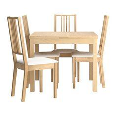 บยูชต้า / เบอร์เย่ โต๊ะและเก้าอี้ 4 ตัว IKEA