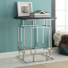 INSPIRE Q Franklin Espresso + Chrome Metal Accent Table | Overstock.com Shopping - The Best Deals on Coffee, Sofa & End Tables