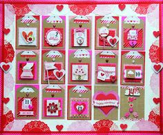 Hi Doodlebug Fans! Jodi here today to share with you a fun but simple project that I created! Doodlebug's new fun collection- Sweethearts . Day Countdown, Arts And Crafts, Paper Crafts, Valentine Day Crafts, Advent, Crafty, Blog, Scrapbook Layouts, Handmade Cards