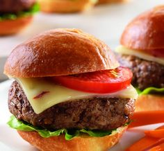 Diabetic friendly recipe for Chipotle Pepper Jack Sliders. Lean ground beef mini-burgers, or sliders, are kicked up with chipotle chili and topped with spicy pepper jack cheese. DiabeticGourmet.com