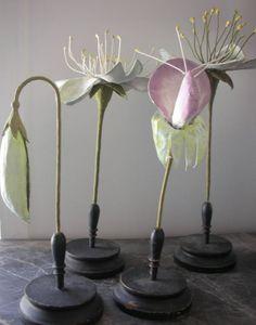 Papier mache flowers