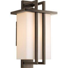 Progress Lighting Dibs Collection 1-Light Antique Bronze Wall Lantern-P5990-20 - The Home Depot