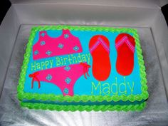 pool+party+cake | Pool party cake
