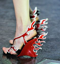 Fashion Week Shoes: Prada Spring 2012.  External combustion.
