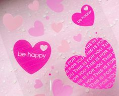 Valentines Heart Clear Gift Bags 20 pcs / Pink by MiniatureSweet
