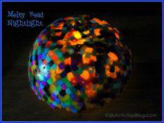 Melty bead nightlight