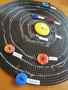 Solar system craft with buttons, teach your children about space!