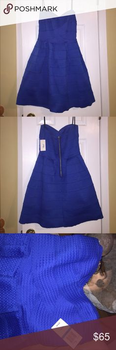 NEW PARTY DRESS New strapless party dress in royal blue..Juniors size 9/10..brand new with tags..refer to pics.. B. Darlin Dresses Strapless