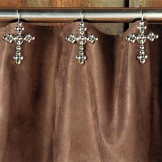 Jeweled Shower Curtain Hooks