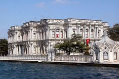 The Beylerbeyi Palace, on the shore of the Bosphorous and in the district to which it gives it name, is an Ottoman summer palace complex built in the Today it lies right under the Bosphorous bridge. Istanbul Guide, Istanbul Tours, Visit Istanbul, Turkish Architecture, Historical Architecture, Art And Architecture, Places Around The World, Around The Worlds, Turkish People