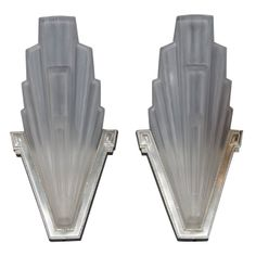 Pair of Outstanding Art Deco Sconces with Skyscraper Design | From a unique collection of antique and modern wall lights and sconces at http://www.1stdibs.com/furniture/lighting/sconces-wall-lights/