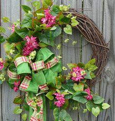 Front Door Wreath  Fun Front Door Wreath with by HornsHandmade,