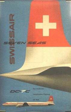 Retro Swissair posters.