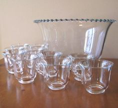 Vintage Imperial Glass Candlewick Punch Bowl Set - 11 Piece from WhimsicalVintage Exclusively on Ruby Lane