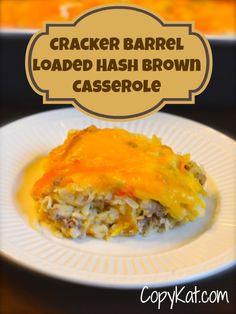 Cracker Barrel Loaded Hashbrowns