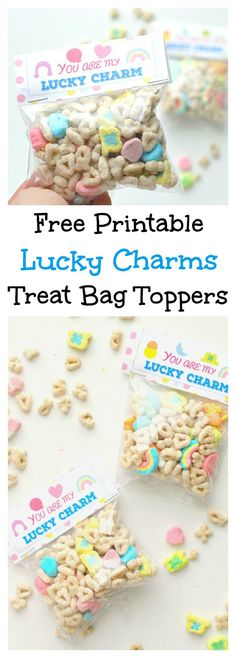 Such a cute and fun St. Patrick's day ideas and so easy, too. patricks day treats for daycare Free Printable Lucky Charm Treat Bag Toppers Birthday Board, Birthday Diy, Birthday Wishes, Happy Birthday, Birthday Party Snacks, Birthday Celebration, Diy Bag Charm, Diy Craft Projects, Crafts For Kids