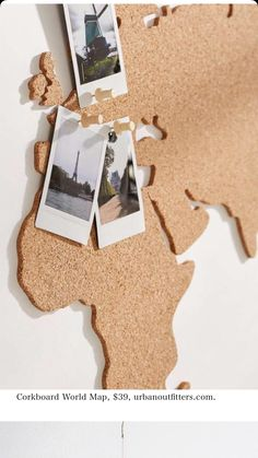 Slide view: cork board world map. World Map Bedroom, Cork Board Map, Cork Boards, Polaroid Wall, Polaroid Pictures, Polka Dot Nails, Polka Dots, Cork Crafts, Travel Maps