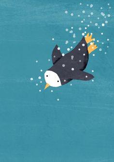 penguin plongeant