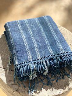 Vintage antique African indigo mudcloth textile #3