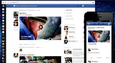 Say hello to the redesigned Facebook News Feed (Photo: Facebook via Livestream)