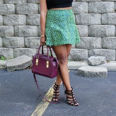 Embroidered skirt - The color palette a lifestyle, fashion & beauty blog