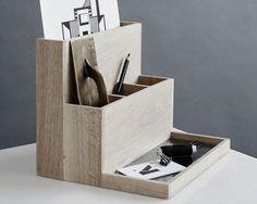 Oak pen holder DESKTOP ORGANIZER by Kristina Dam Studio