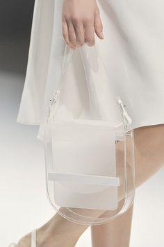 White & clear perspex bag, transparent fashion details // Jasper Conran S/S 2012