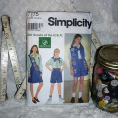 Your place to buy and sell all things handmade Girl Scout Sash, Girl Scout Uniform, Girl Scouts Of America, Usa Girls, Simplicity Patterns, Organizations, Pattern Making, School Stuff, Ali