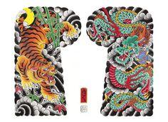 2010 Yakuza Tattoo, S Tattoo, Dragon Tiger Tattoo, Irezumi Sleeve, Traditional Tattoo Inspiration, Tatoo Bird, Japanese Tiger Tattoo, Quarter Sleeve Tattoos, Tiger Painting