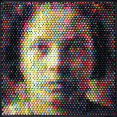 Christian Faur- artwork made from crayons