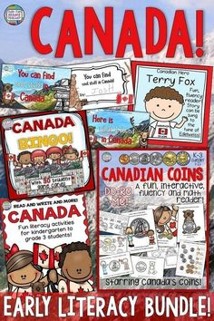Fun ideas for young students to learn about and Celebrate CANADA! - That Fun Reading Teacher Educational Activities For Kids, Teaching Activities, Fun Learning, Teaching Resources, Classroom Resources, Teaching Ideas, Canada For Kids, Ontario Curriculum, Thing 1