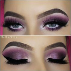 WEBSTA @makeupbyan New video on my YouTube Channel (link in my bio) this eyelook will look great with any eye color! Hope you enjoy the video I used the @natashadenona Purple/Blue Eyepalette, @makeupgeekcosmetics Eyeshadows, @Marcbeauty Pink of me high liner pencil in the waterline, @Tartecosmetics Lights Camera lashes mascara, @Annytude Fluffy lashes, @Anastasiabeverlyhills Brow wiz in Medium Brown and Brow powder in Medium Brown and Brow Gel in Chocolate.