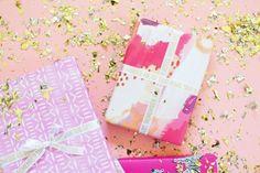DIY Personalized Printed Gold Gift Wrap Ribbon