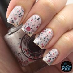 Squishy Face Polish - Truly, Madly, Deeply  #trulymadlydeeply, #white, #red, #black, #grey, #glitter, #nails, #nailpolish, #polish, #indie, #indienailpolish, #indiepolish, #squishyfacepolish