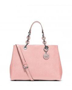 0857d5368 Bolsa satchel Cynthia em couro Saffiano Bolsa Grande, Feminino E Masculino,  Sapatos, Michael