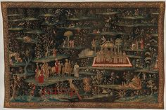 Attributed to the workshop of John Vanderbank the Elder (Flemish, The Concert from a pair of Indo-Chinese scenes, The Metropolitan Museum of Art, New York. Gift of Mrs. George F. Medieval Tapestry, Indian Tapestry, Maker Culture, Tapestry Design, New York, Textile Artists, 16th Century, Metropolitan Museum, Indian Art