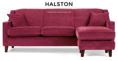 Halston Large Corner Sofa in orient red | made.com